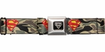 Superman Logo Camo Seatbelt Belt