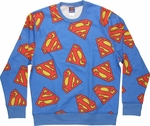 Superman Logo Jumble Sublimated Sweatshirt