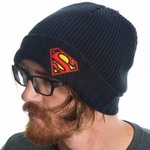 Superman Logo Ribbed Cuff Beanie