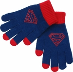 Superman Logo Touch Gloves
