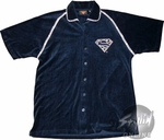 Superman Logo Velour Shirt