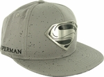 Superman Man of Steel Metal Logo Hat
