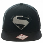 Superman Man of Steel Silver Logo Hat