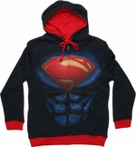 Superman Man of Steel Suit Hoodie