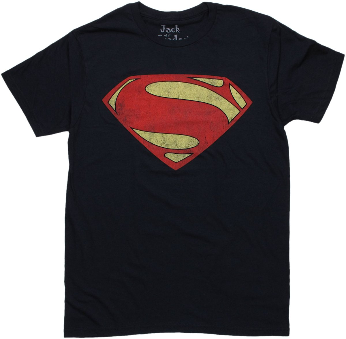 dc comics superman superman man of steel vintage logo t shirt sheer. Black Bedroom Furniture Sets. Home Design Ideas