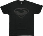 Superman Man of Steel Zod Logo T Shirt
