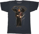 Superman Man of Steel Zod Navy T Shirt Sheer