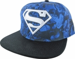 Superman New 52 All Over Blue Hat