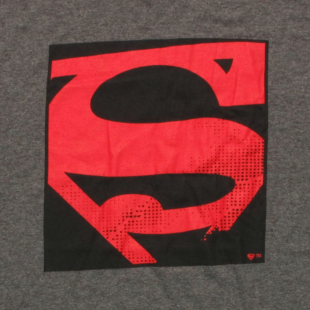 Superman Pop Art Logo T Shirt Sheer