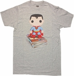 Superman Pop Heroes Comic Stack T Shirt Sheer