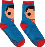 Superman Pop Heroes Fuzzy Crew Socks