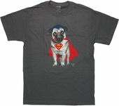 Superman Pug Costume T Shirt