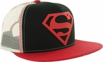 Superman PVC Logo Trucker Hat