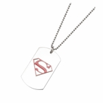 Superman Red Logo Dog Tag Necklace