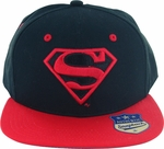 Superman Red Logo on Black Hat