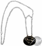Superman Silver Logo Necklace