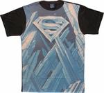 Superman Solitude Logo Sublimated T Shirt Sheer
