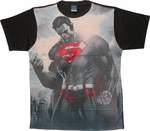 Superman Sun Glare Sublimated T Shirt Sheer