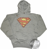 Superman Symbol Distressed Hoodie