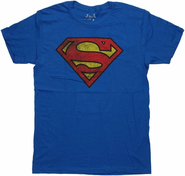Superman Textured Logo T Shirt Sheer