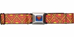 Superman Tiled Logos Seatbelt Belt