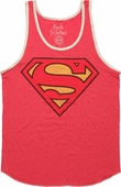 Superman Vintage Logo Red Tank Top