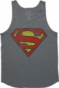 Superman Vintage Symbol Tank Top