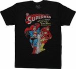 Superman vs Flash Fastest Man Alive T-Shirt Sheer