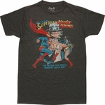 Superman vs Wonder Woman T Shirt Sheer