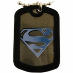 Superman White Logo Dog Tag