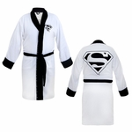 Superman White Terrycloth Robe