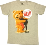 Ted Help Button T Shirt Sheer