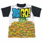 Teen Titans Go Burgers BB Dye Sub Youth T Shirt