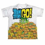 Teen Titans Go Burgers Dye Sub Youth T Shirt
