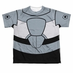 Teen Titans Go Cyborg Suit Dye Sub Youth T Shirt