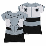 Teen Titans Go Cyborg Suit FB Sub Juniors T Shirt