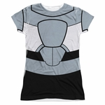 Teen Titans Go Cyborg Suit Sub Juniors T Shirt