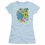 Teen Titans Go Group Logo Juniors T Shirt