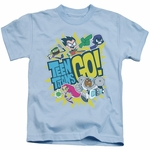 Teen Titans Go Group Logo Juvenile T Shirt