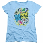 Teen Titans Go Group Logo Ladies T Shirt