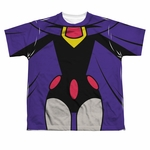 Teen Titans Go Raven Suit Dye Sub Youth T Shirt