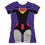 Teen Titans Go Raven Suit Sub Juniors T Shirt