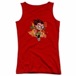 Teen Titans Go Robin Juniors Tank Top