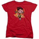 Teen Titans Go Robin Ladies T Shirt