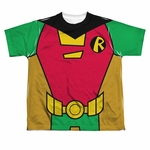Teen Titans Go Robin Suit Dye Sub Youth T Shirt