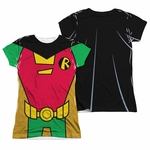 Teen Titans Go Robin Suit FB Sub Juniors T Shirt