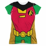 Teen Titans Go Robin Suit Sub Juniors T Shirt
