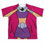 Teen Titans Go Starfire Suit Dye Sub Youth T Shirt