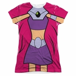 Teen Titans Go Starfire Suit Sub Juniors T Shirt
