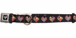 Tetris Block Hearts Pet Collar